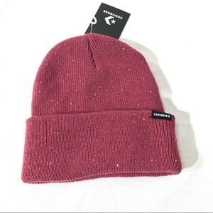 Converse Women's Hat heathered red NWT